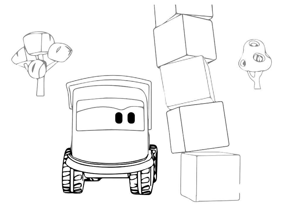 Раскраска левы грузовичка