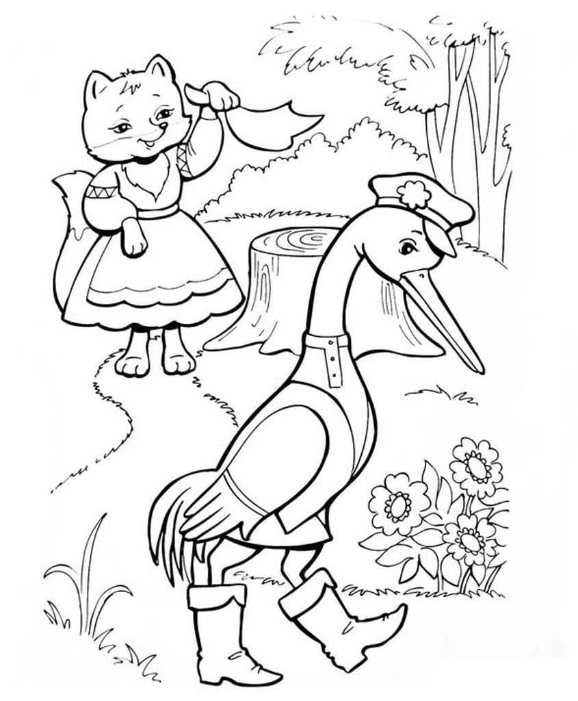 """""""Лиса"""" раскраски для детей. Скачать, распечатать онлайн ..."""