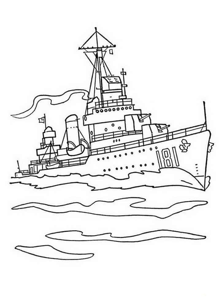 Раскраска корабль, скачать и распечатать бесплатно