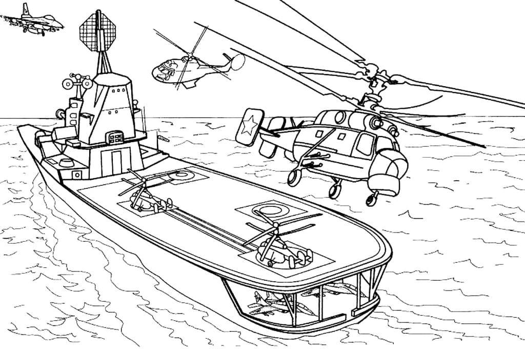 Раскраски для мальчиков корабли