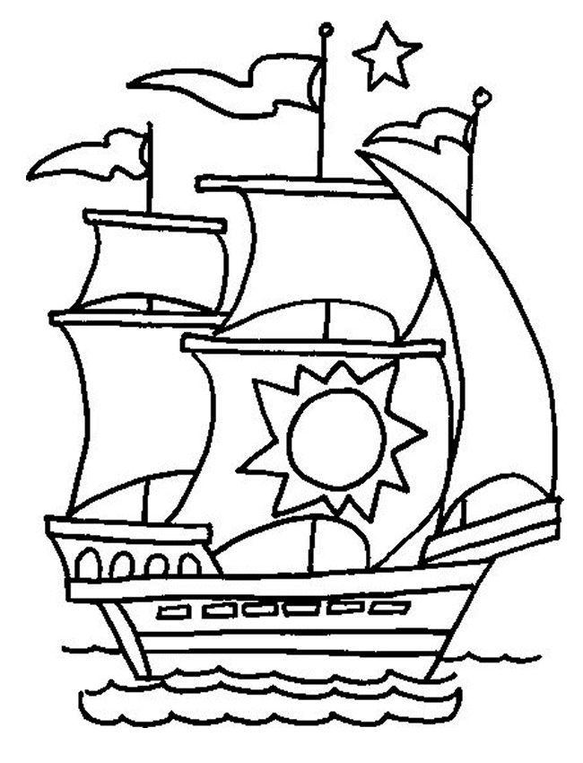 Корабль раскраска для мальчиков