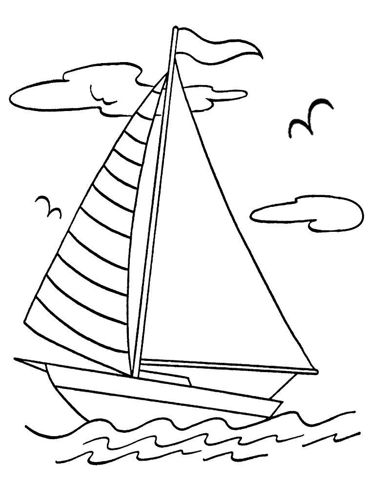 Распечатать раскраску для мальчиков корабль