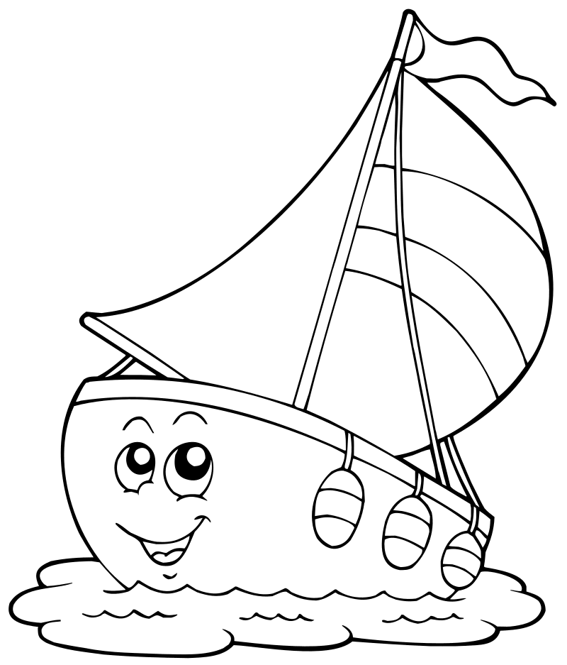 Детская раскраска корабль