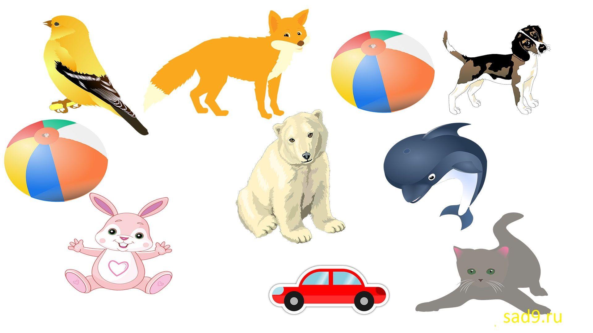 Упражнение для детей - найди одинаковые предметы