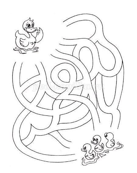 Упражнение Лабиринт для детей 4-5 лет