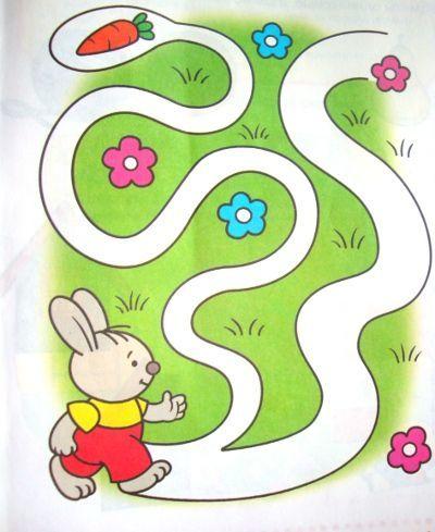 Упражнение Лабиринт для детей 2-3 лет