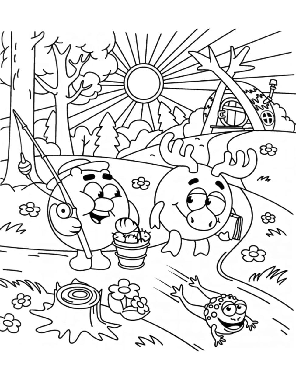 """""""Смешарики"""" раскраски для детей. Скачать, распечатать ..."""