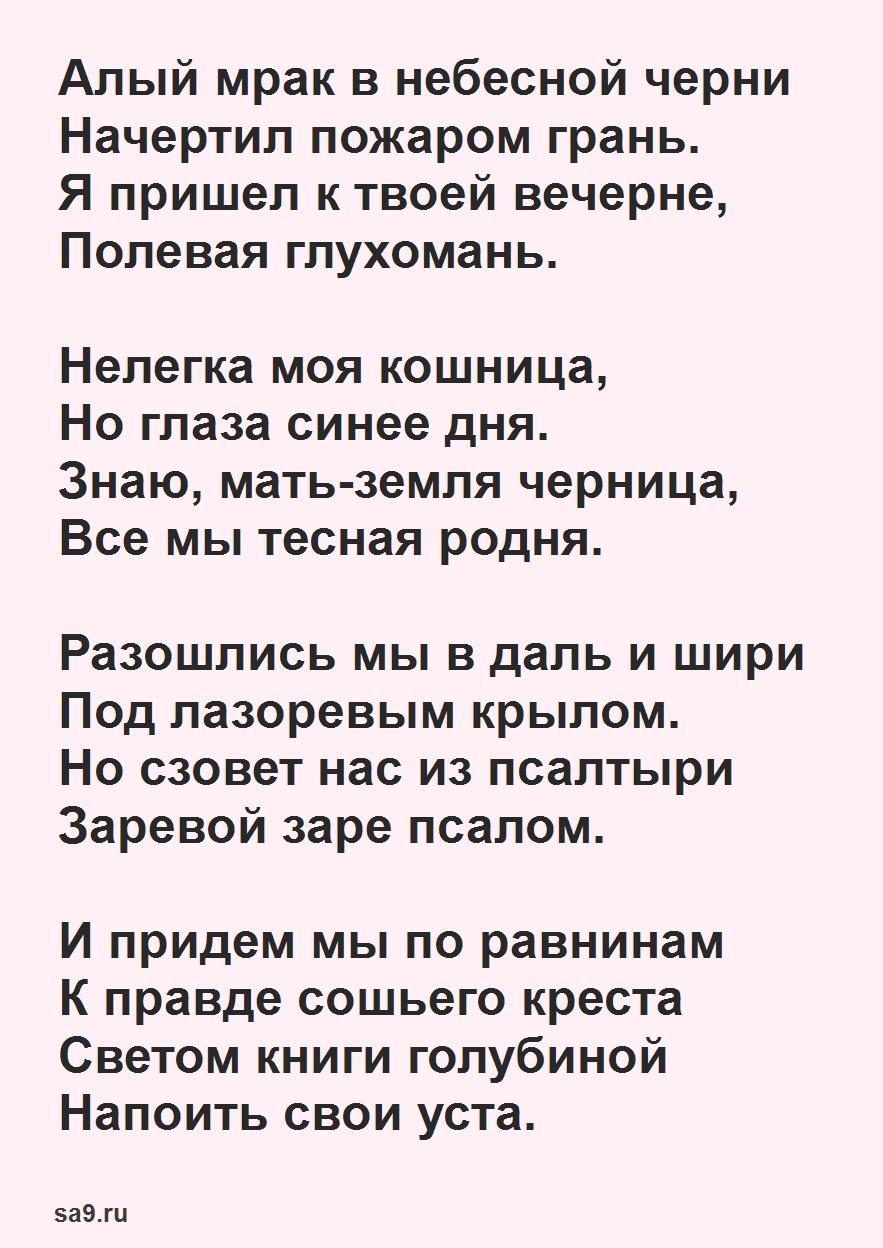 Сергей Есенин стихи - Алый мрак в небесной черни