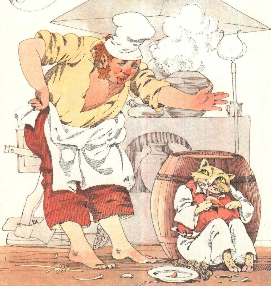 Читать басню Крылова Кот и повар онлайн бесплатно