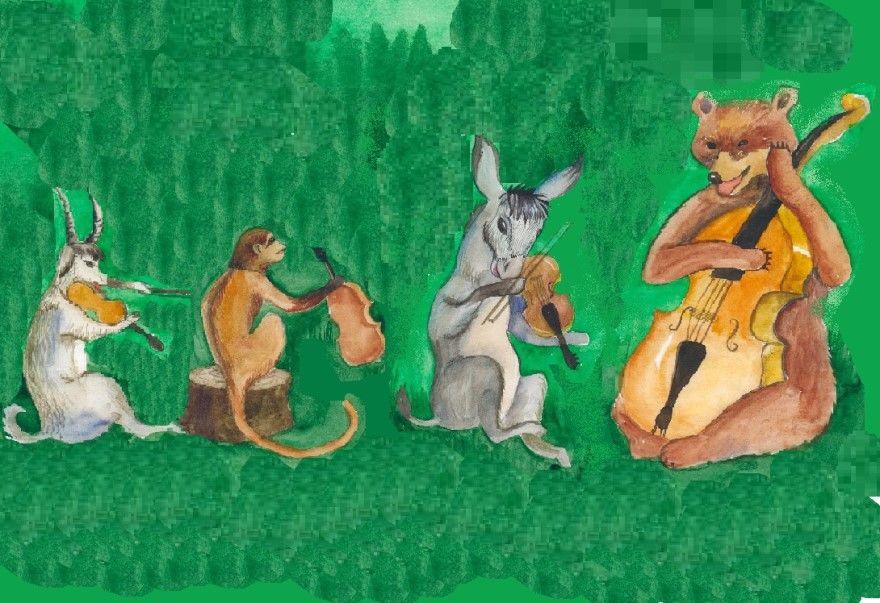 Читать басню Крылова для детей полностью Музыканты