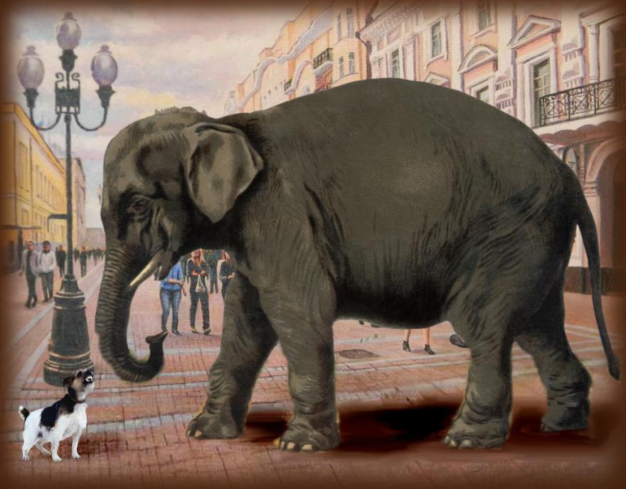 Читать басню Крылова полностью Слон и Моська