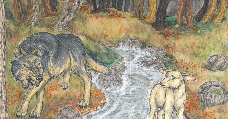 хорошо картинки как нарисовать волка и ягненка экструдере