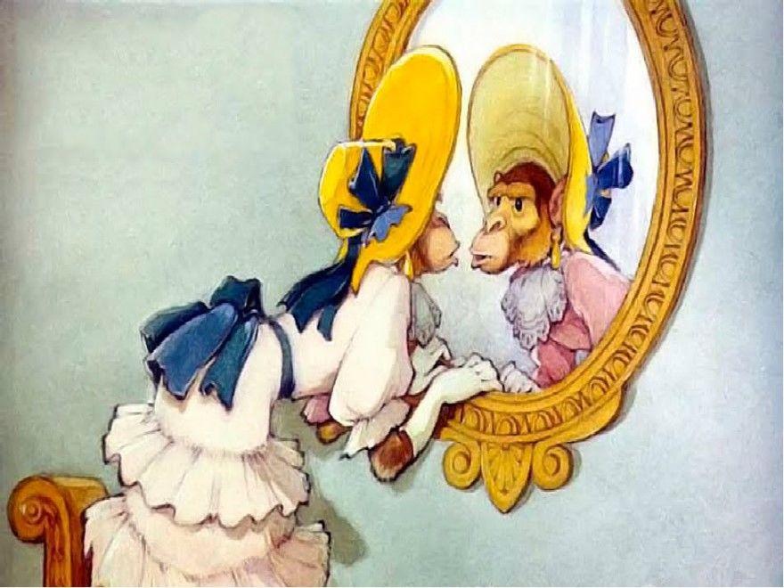 Читать басню Крылова полностью Зеркало и обезьяна