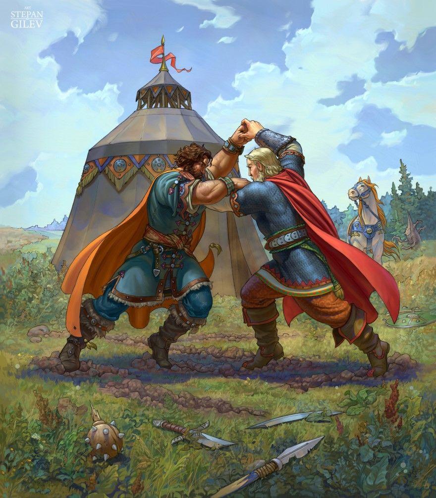 Читать лучшую русскую народную былину Бой Дуная и Добрыни