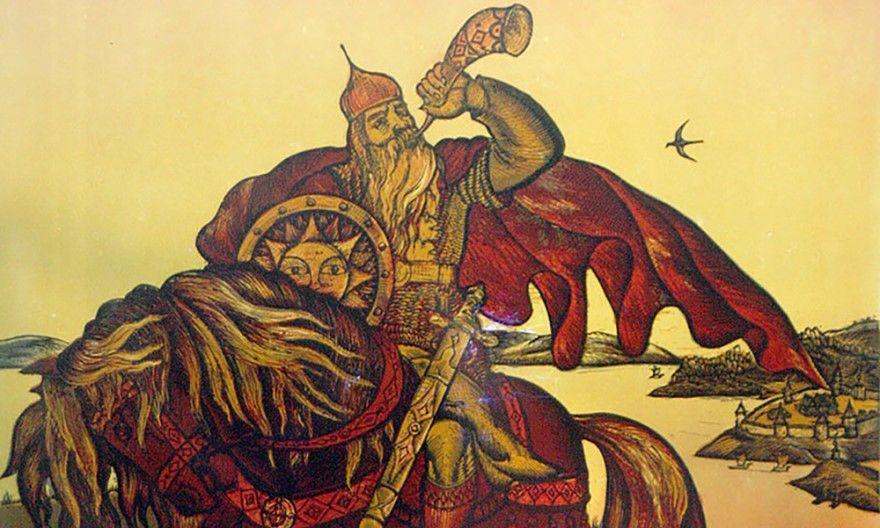 Читать лучшую русскую народную былину Калика богатырь