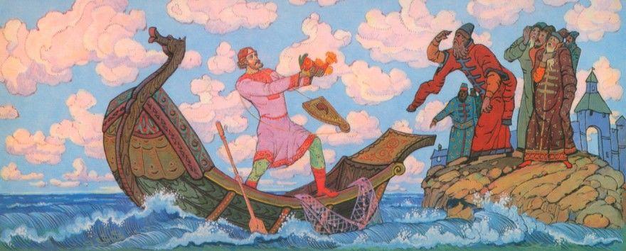 Читать лучшую былину Садков корабль стал на море