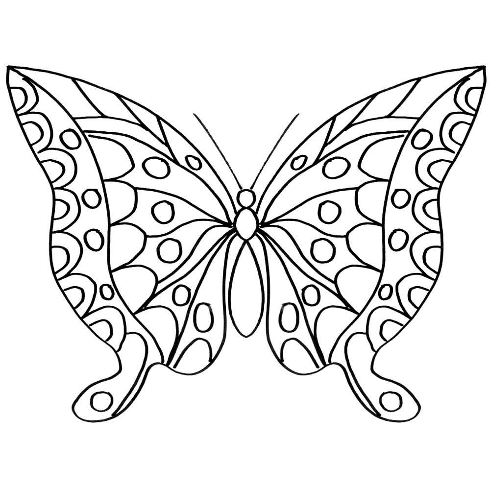 """""""Бабочка"""" раскраски для детей. Скачать, распечатать онлайн ..."""