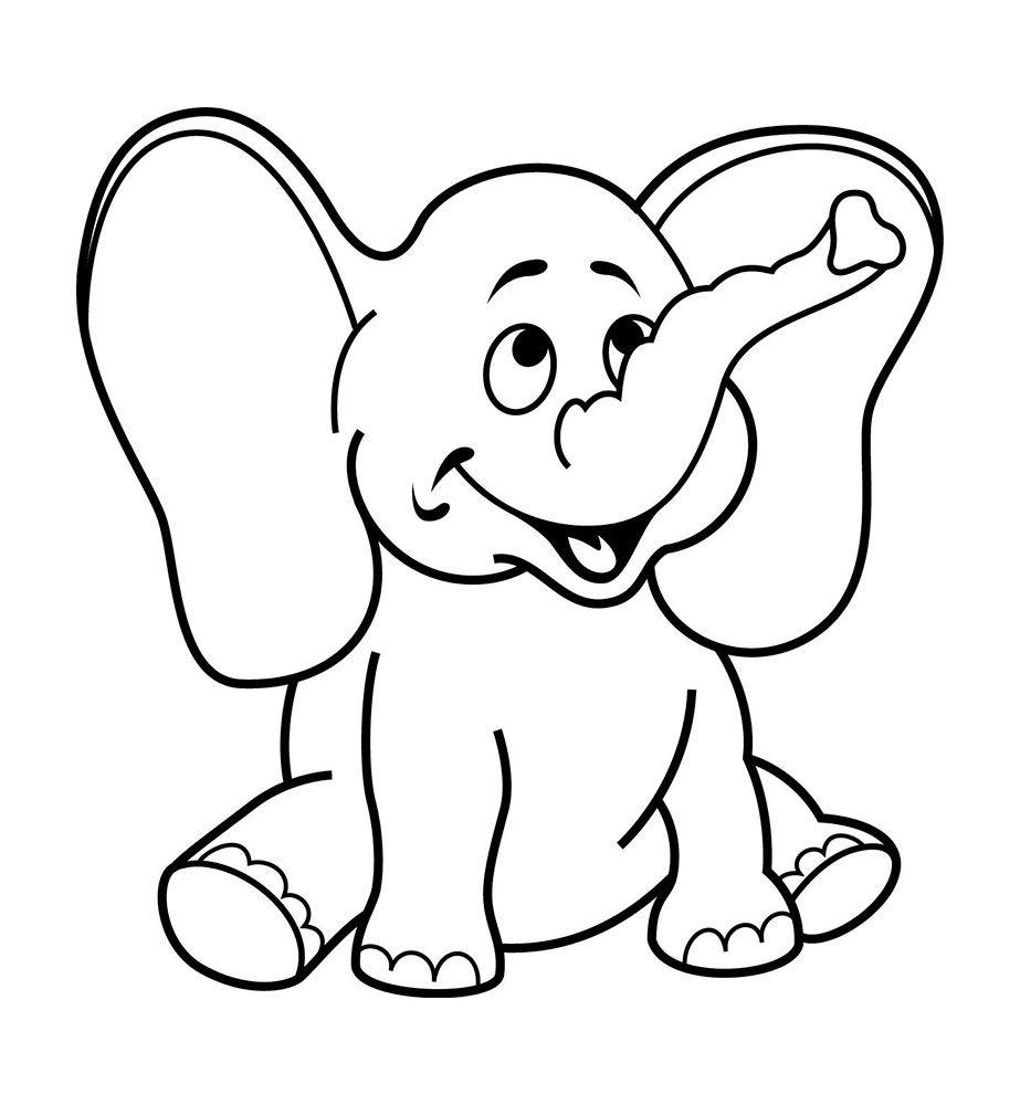 Раскраски для детей 2-3 лет | color | Рисунки животных, Раскраски ... | 1000x923