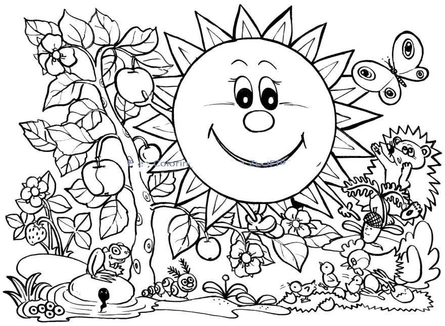 Лето раскраски для мальчиков детей девочек