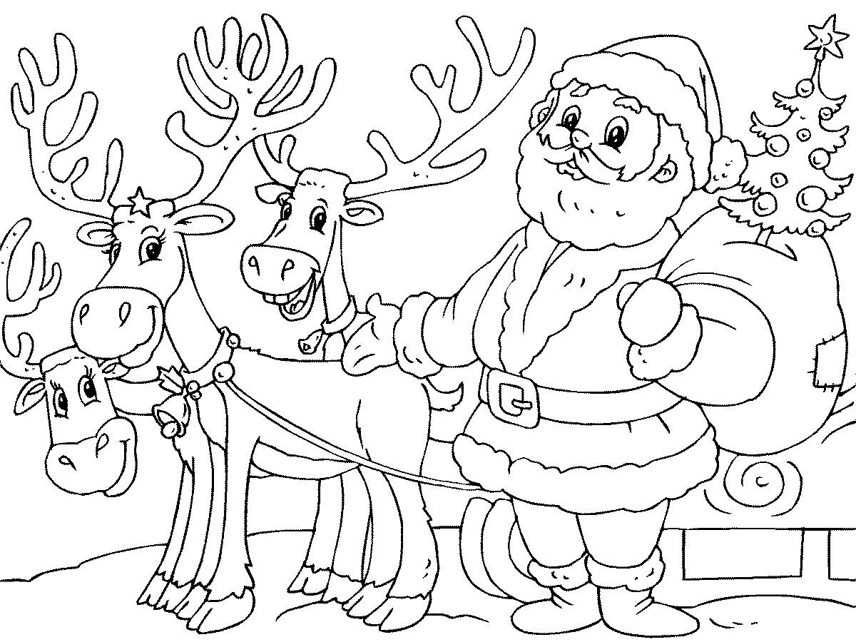 Раскраска Новый год для детей распечатать красивая