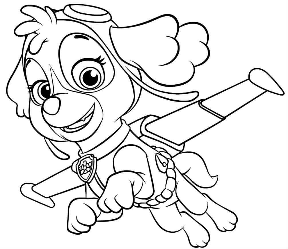 Патруль раскраски для детей распечатать девочек мальчиков