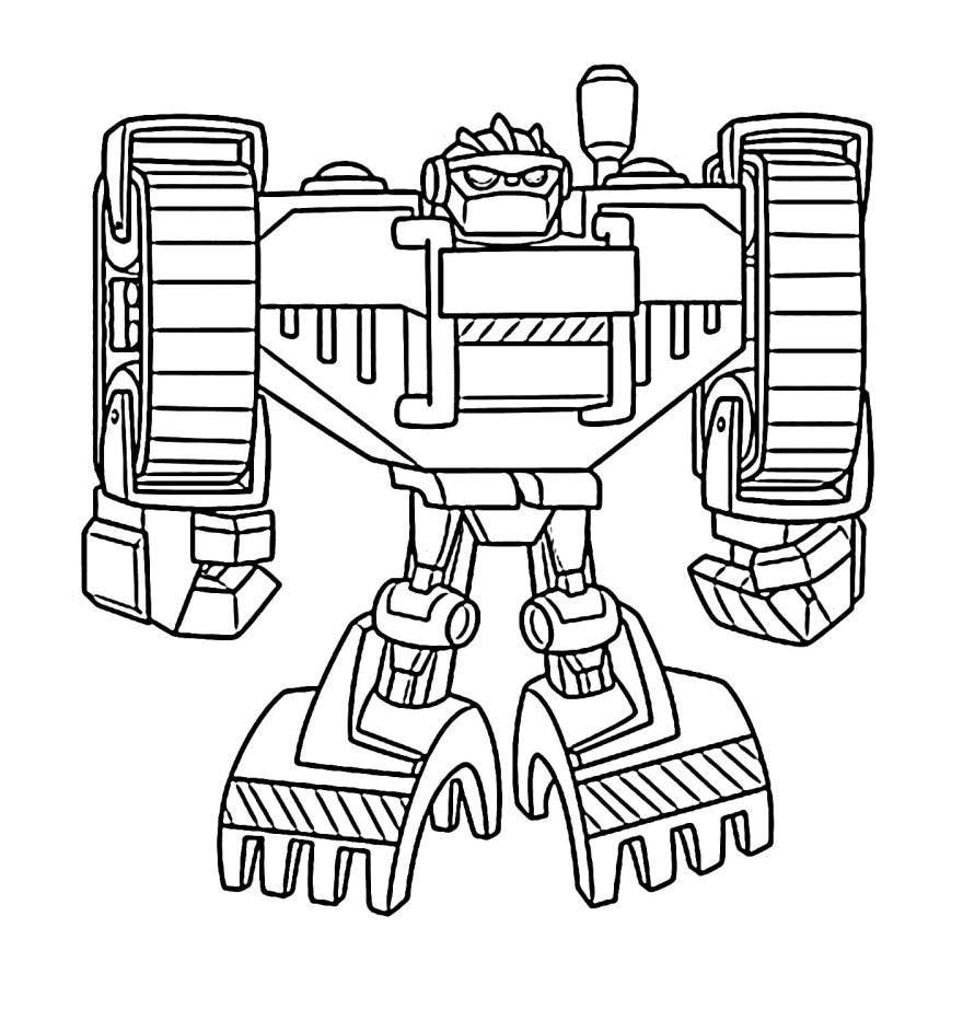 Робот трансформер раскраски для мальчиков детей