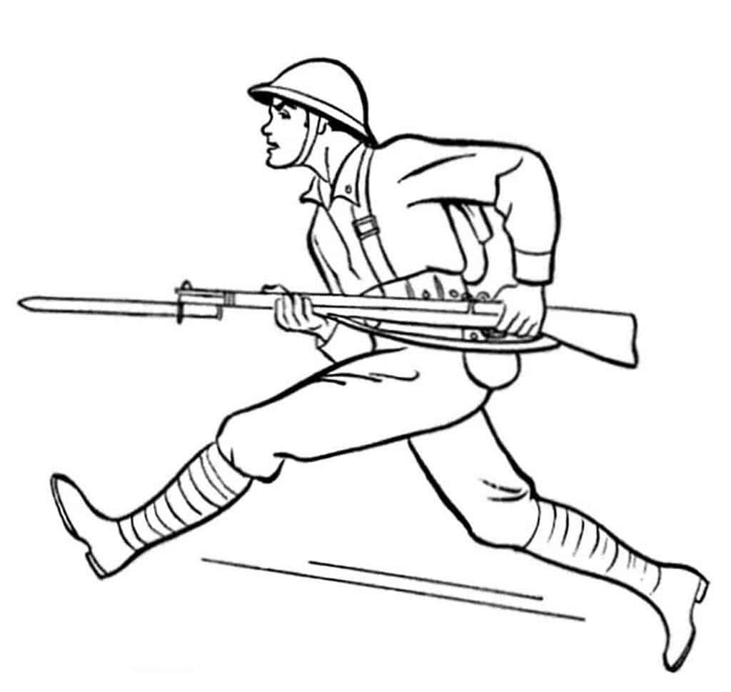 Солдат раскраски для мальчиков детей распечатать