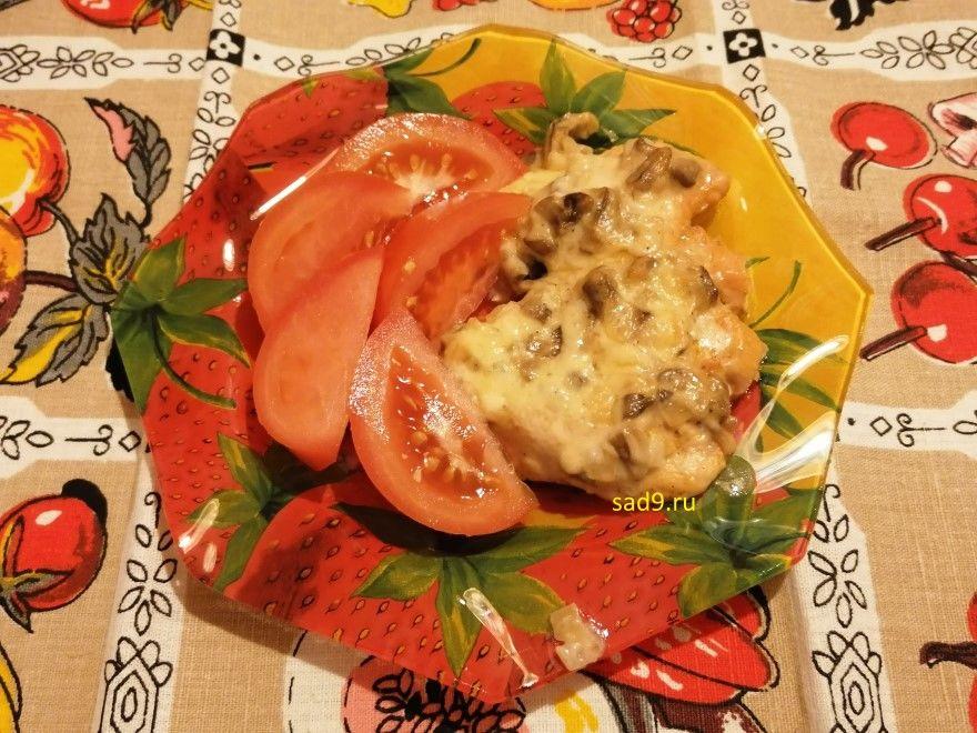 Курица с грибами в духовке фото рецепт пошагово