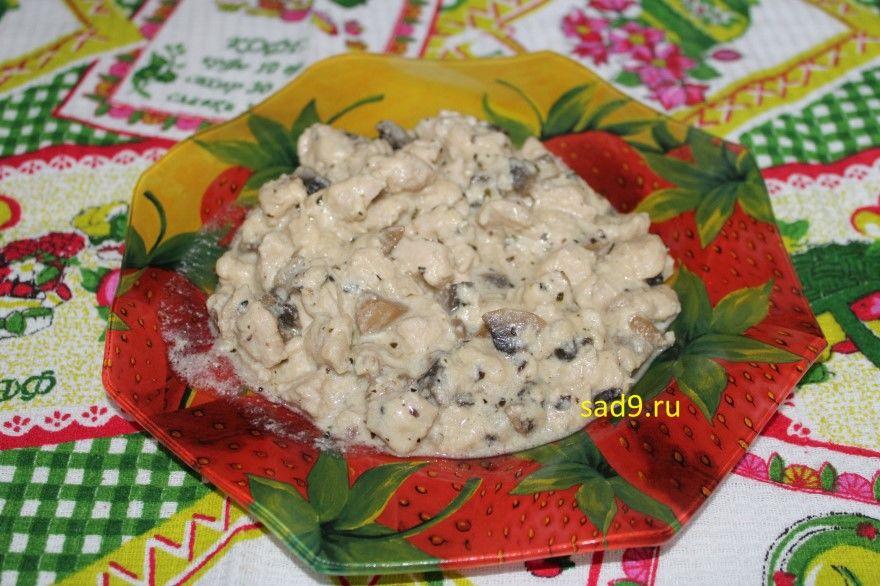 Жюльен из курицы грибов фото рецепт пошагово