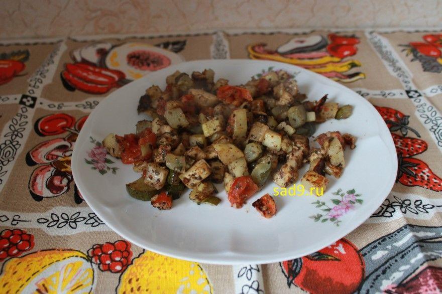 Запеченные овощи в духовке фото рецепт способ приготовления