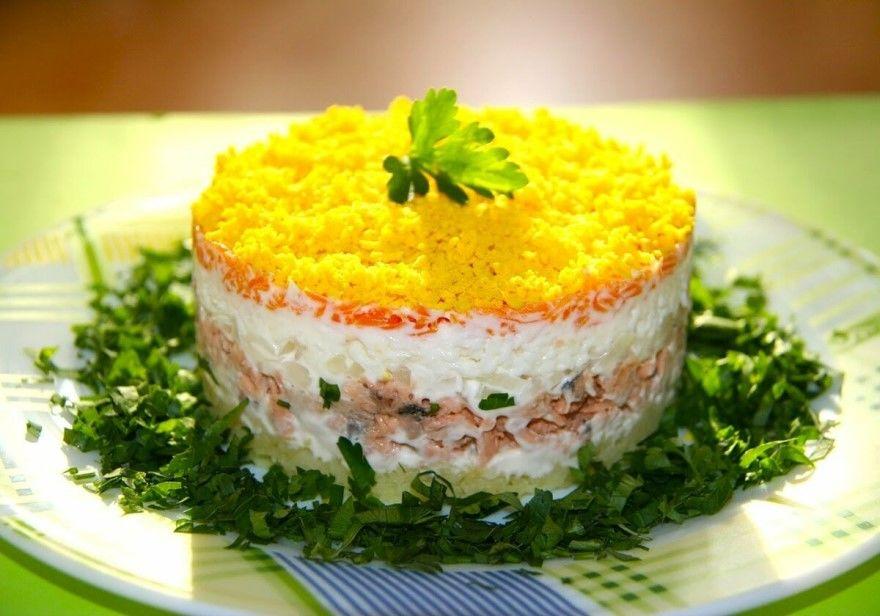 Рецепт способ приготовления салат Мимоза с сайрой