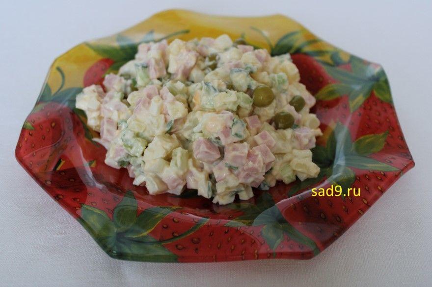 Салат рецепт с колбасой оливье способ приготовления фото