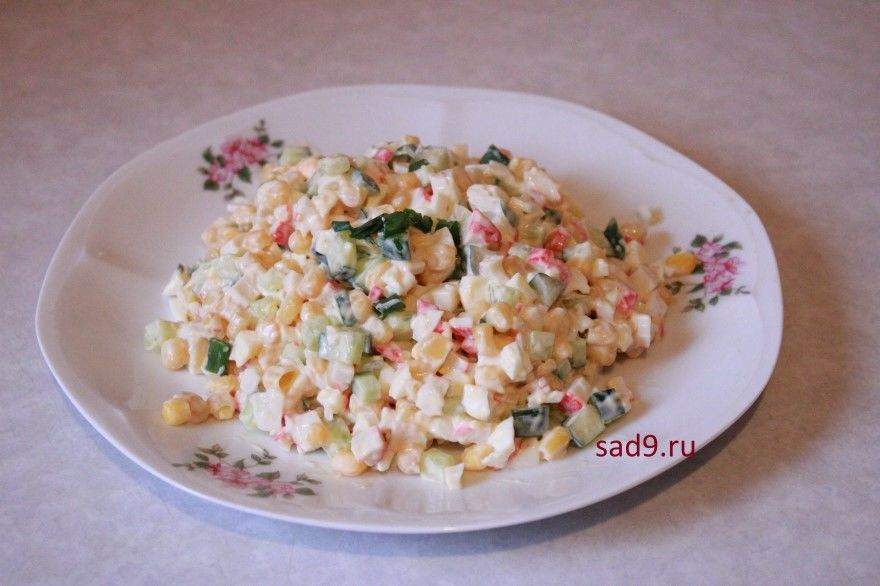 Салат с крабовыми палочками фото рецепт пошаговый
