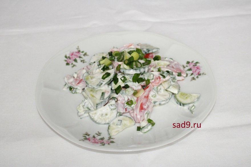 Салат с огурцов свежими рецепт фото пошаговый