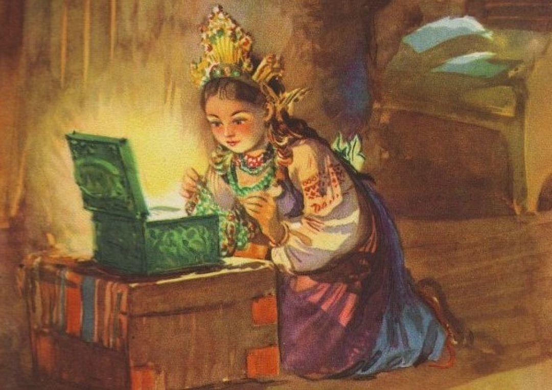 Читать сказку Бажов Малахитовая шкатулка для детей