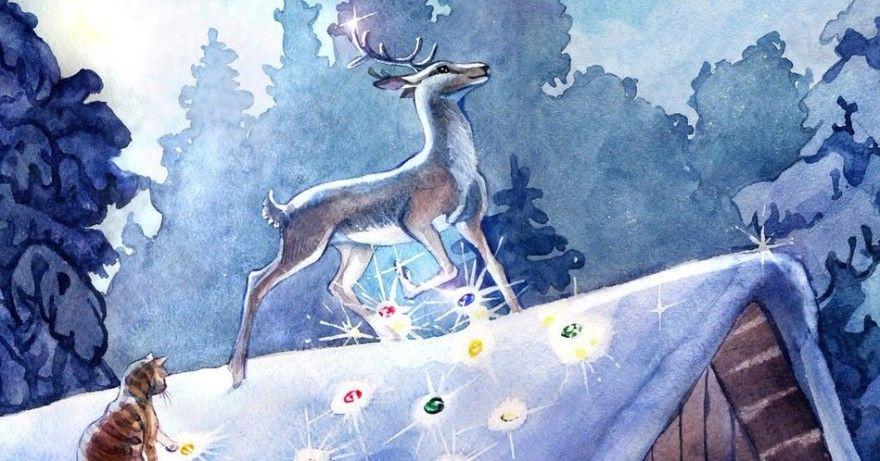Читать сказку Бажов Серебряное копытце для детей