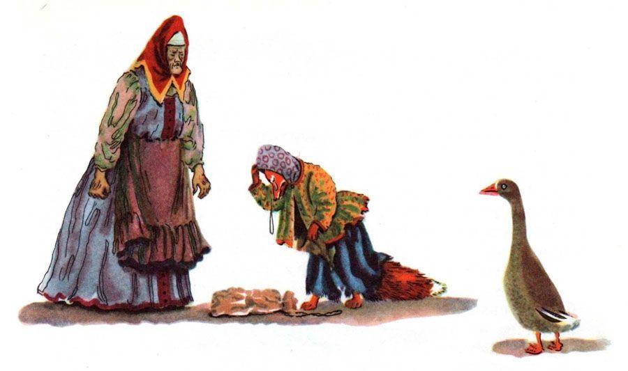 Читать сказку Даль Лиса лапотница бесплатно онлайн