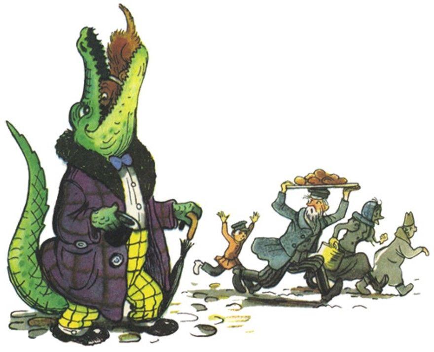 Крокодил сказка Корнея Чуковского читать текст онлайн