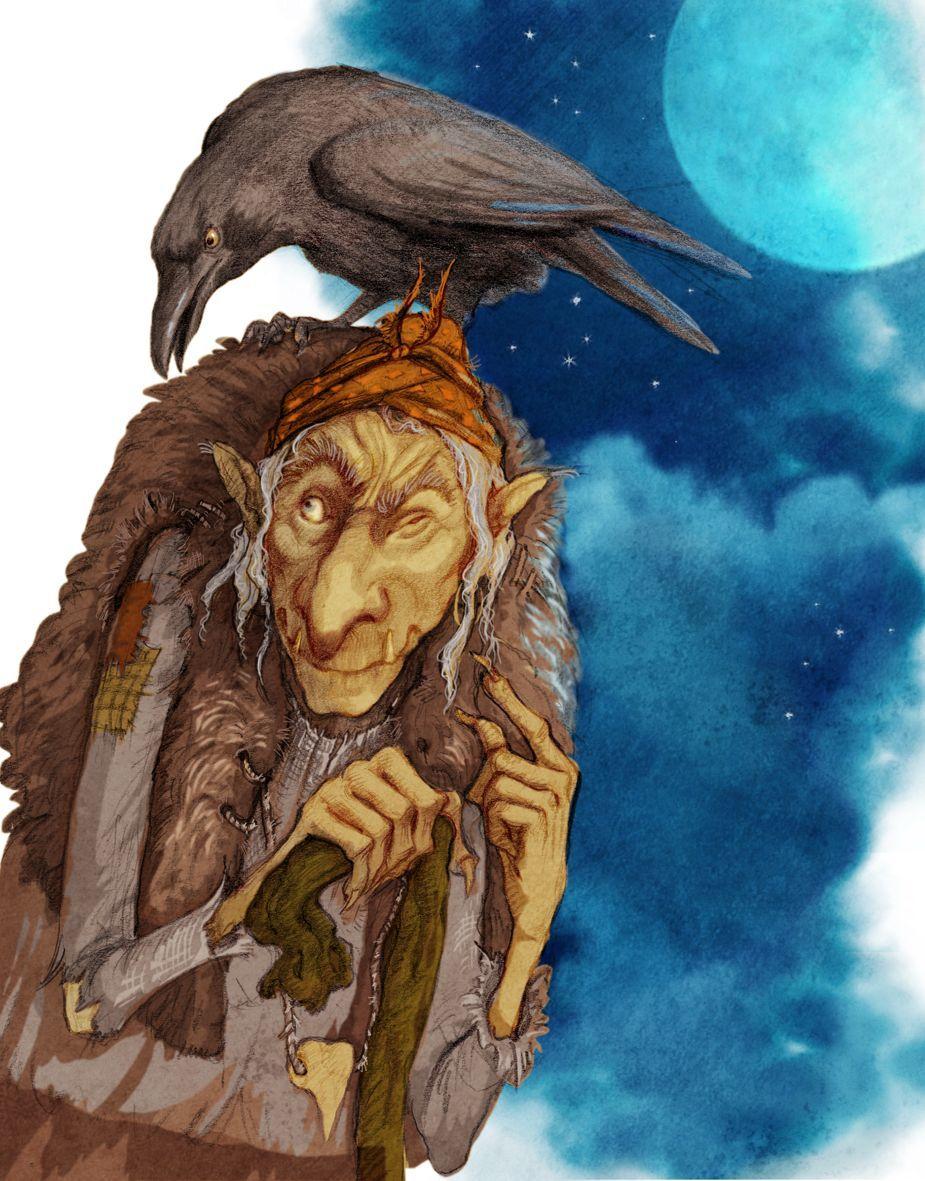 Баба-яга русская народная сказка для детей онлайн