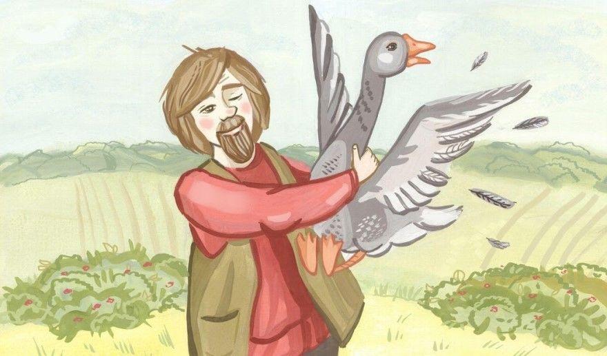 Как мужик гусей делил русская народная сказка