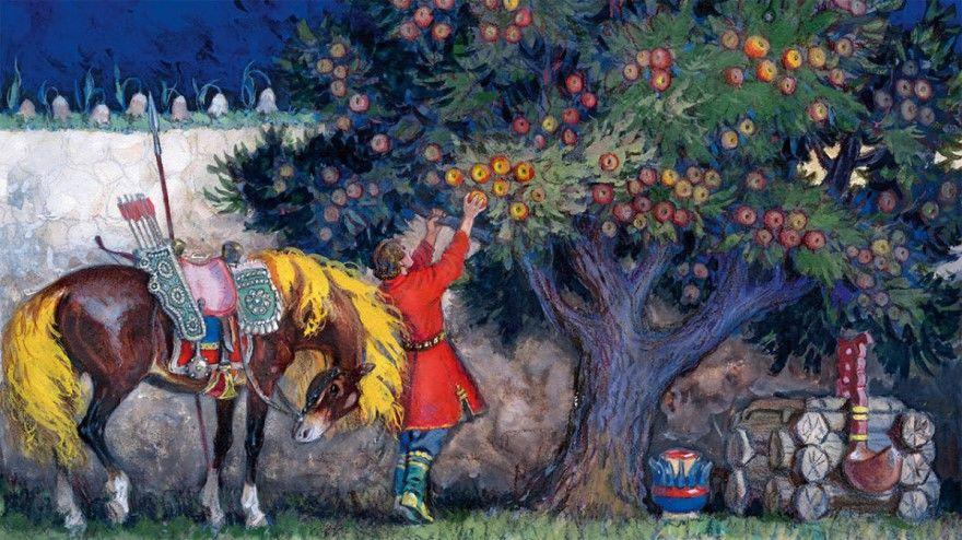 О молодильных яблоках живой воде русская народная сказка