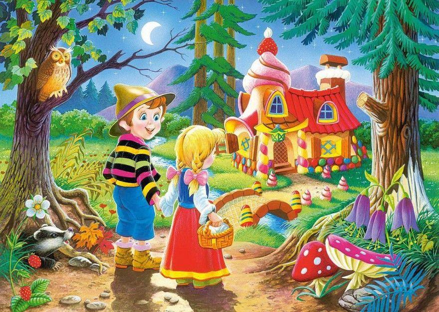 Читать сказку Шарль Перро Пряничный домик для детей