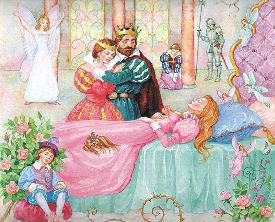 Читать сказку Шарль Перро Спящая красавица для детей