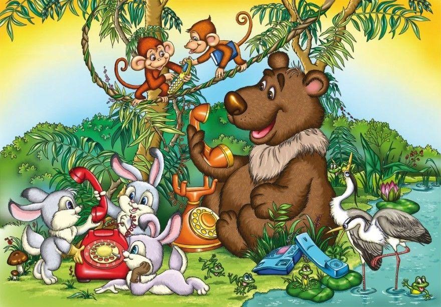 Читать сказку Чуковский Телефон для детей