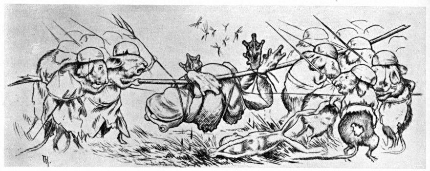 Читать сказку Жуковский Война мышей и лягушек для детей