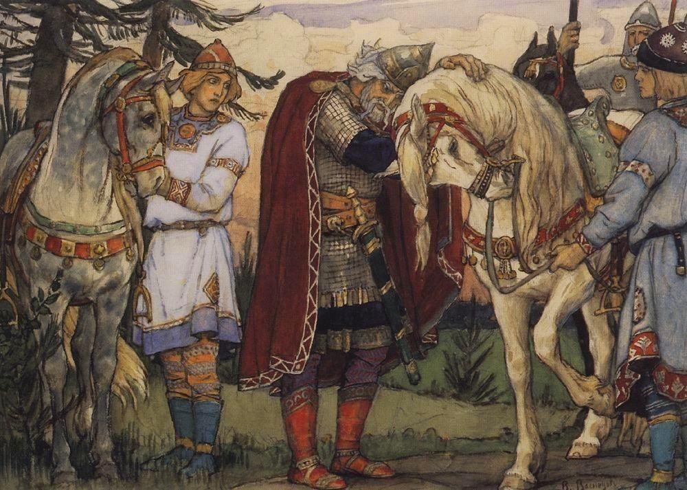 Читать текст Песнь о вещем Олеге Пушкин