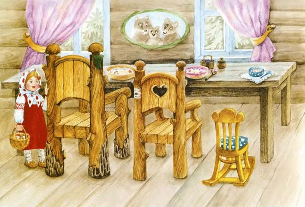 Сказка Три медведя читаем по слогам